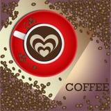 Kaffe teckningar på cofee Arkivfoton