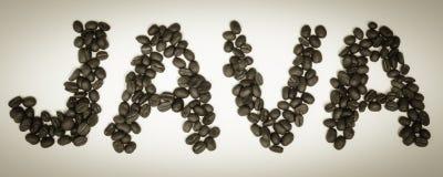 Kaffe Tid - JAVA Beans Royaltyfri Foto