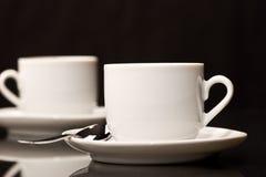 kaffe två Arkivfoton