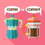 kaffe två vektor illustrationer
