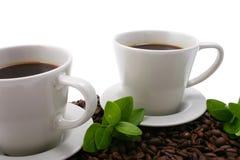 kaffe två arkivbild