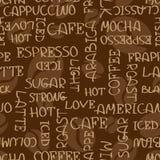 Kaffe uttrycker den sömlösa modellen stock illustrationer