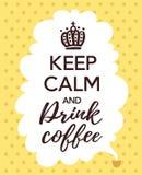 Kaffeaffisch Royaltyfri Foto