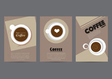 Kaffeaffischbakgrund Royaltyfri Foto