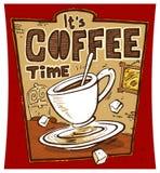kaffeaffischtid Royaltyfri Foto
