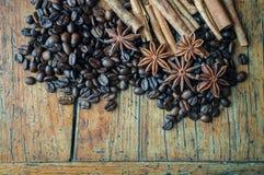 Kaffeanis och kanel Royaltyfria Foton