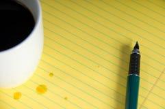 kaffeanteckningsbok Arkivfoton