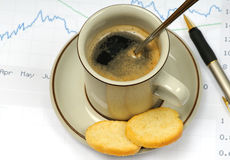 kaffearbete Arkivbild