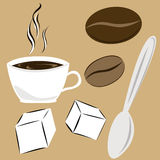 Kaffeattributes Arkivfoto
