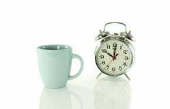 Kaffeavbrott på klockan för nolla tio Arkivfoton