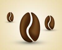 Kaffeböna Vektor Illustrationer