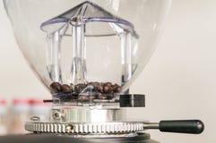 Kaffeböna i kaffekvarn Royaltyfri Foto