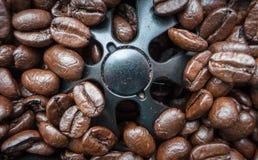 Kaffeböna - koffein royaltyfria foton