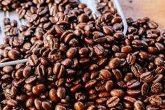 Kaffeböna på magasinet Royaltyfri Foto
