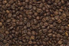 Kaffebönatextur Fotografering för Bildbyråer
