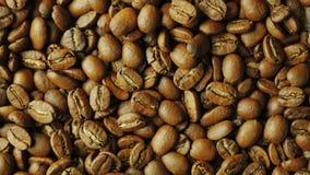 Kaffebönor faller uppifrån ner arkivfilmer
