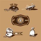Kaffebönor & kanel Royaltyfri Bild