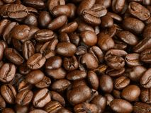Kaffebönor på en tabell Arkivbild