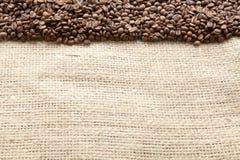 Kaffebönor som ses från över Royaltyfria Foton