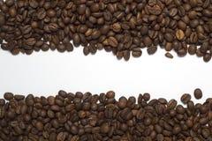 Kaffebönor två linjer textur Arkivfoto