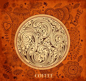 Kaffebakgrund Arkivfoto