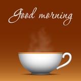 Kaffebakgrund för bra morgon Royaltyfri Foto