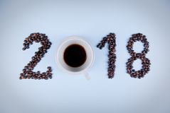 Kaffebegrepp 2018 Royaltyfri Foto