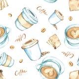 Kaffebeståndsdelar, hög upplösning för vattenfärgmålarfärg Fotografering för Bildbyråer