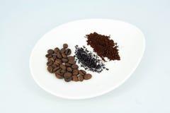 Kaffeblandningar Arkivfoto