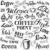 Kaffebokstäver och beståndsdelar, Royaltyfri Foto