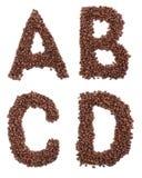 kaffebokstav Fotografering för Bildbyråer