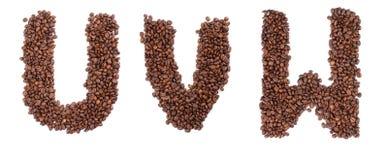 kaffebokstav Royaltyfri Fotografi