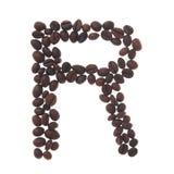 kaffebokstav r Royaltyfri Fotografi