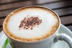 Kaffecappuccino. Arkivbild