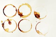 kaffecirklar royaltyfria foton