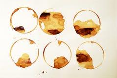 kaffecirklar Arkivbild