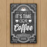 Kaffecitationstecknet på svart tavlabakgrund för affisch och shoppar anständigheter royaltyfri illustrationer