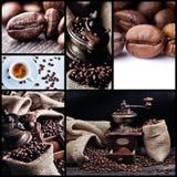 Kaffecollage 1 Fotografering för Bildbyråer