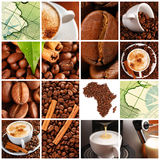 kaffecollage Royaltyfria Bilder