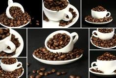 kaffecollage Arkivfoton