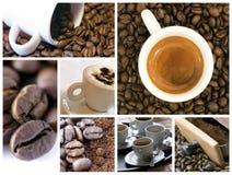 kaffecollage Arkivbilder