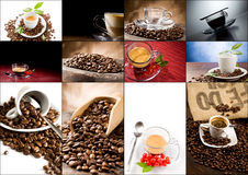 kaffecollage Royaltyfria Foton