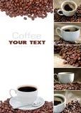 kaffecollage Arkivbild
