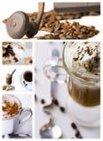 kaffecollage Arkivfoto