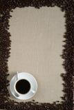 kaffecuplayout Arkivbilder