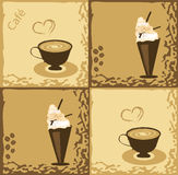 kaffedesign Royaltyfri Fotografi
