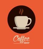 Kaffedesign stock illustrationer