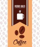 Kaffedesign vektor illustrationer