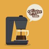 Kaffedesign royaltyfri illustrationer