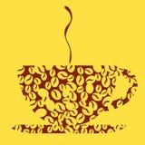 Kaffedesign - illustration Royaltyfri Fotografi